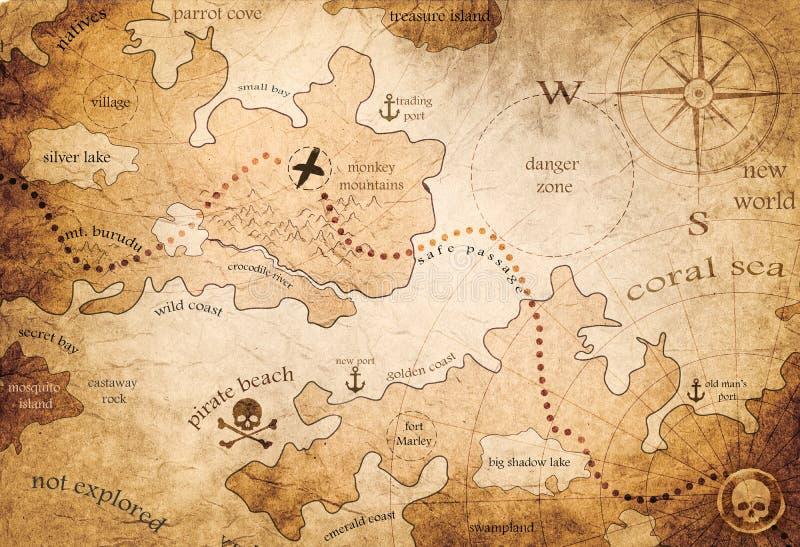 Mapa da terra da fantasia fotografia de stock royalty free