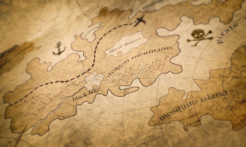 Mapa da terra da fantasia fotos de stock royalty free
