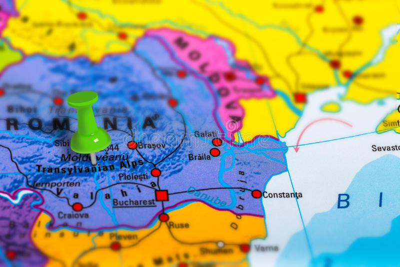 Mapa da Transilvânia Romênia fotos de stock