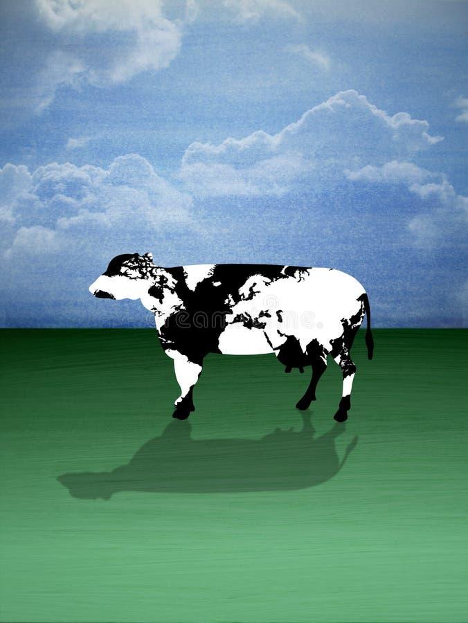 Mapa da vaca ilustração do vetor