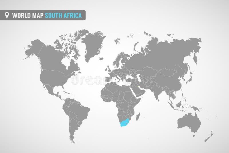Mapa de África do Sul   ilustração stock