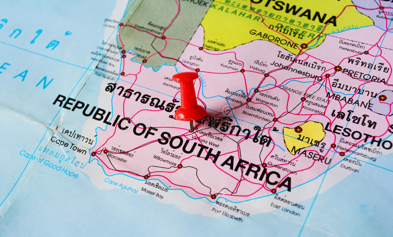Mapa de África do Sul imagens de stock royalty free