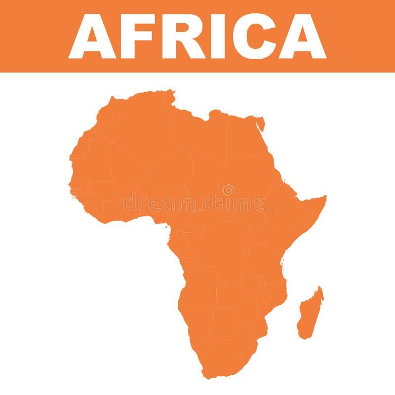 Mapa de África Vetor liso ilustração do vetor