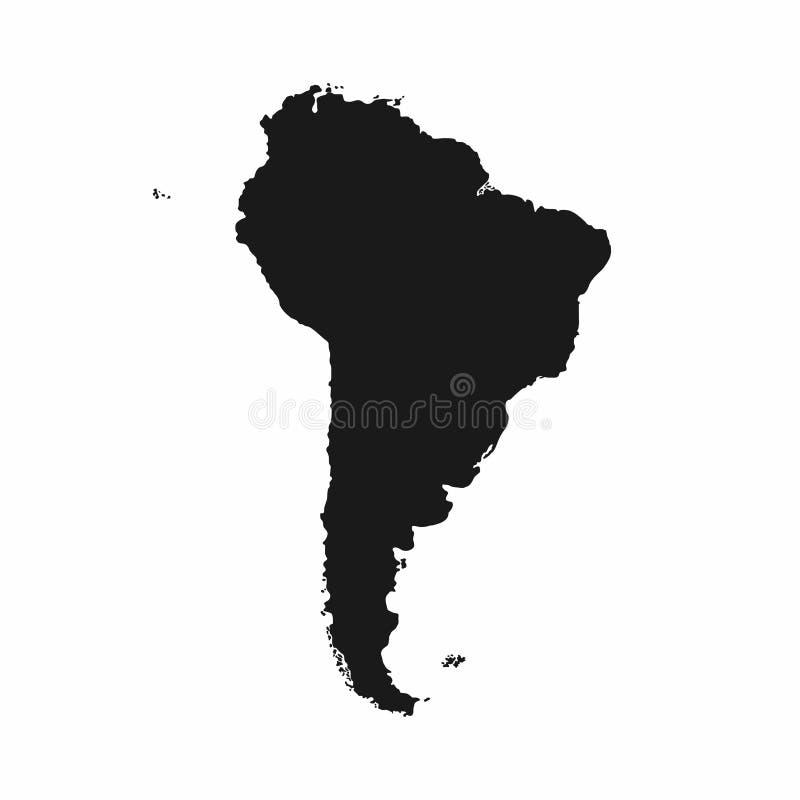 Mapa de Ámérica do Sul Ícone monocromático de Ámérica do Sul ilustração royalty free