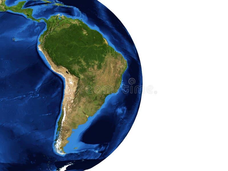 Mapa de Ámérica do Sul ilustração royalty free