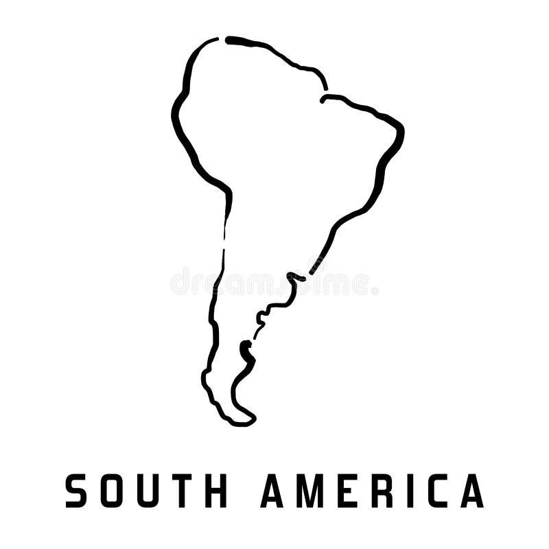 Mapa de Ámérica do Sul ilustração do vetor