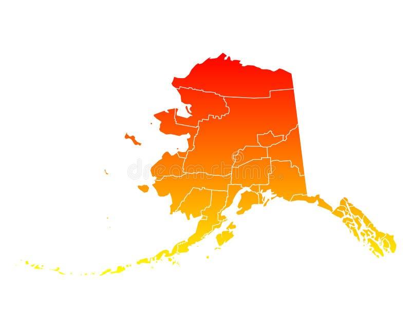 Mapa de Alaska ilustração do vetor