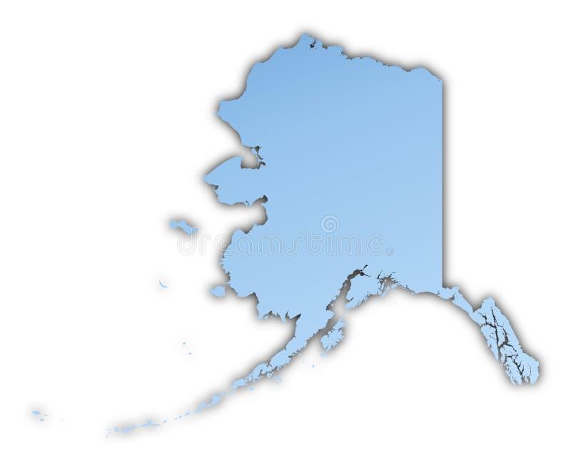 Mapa de Alaska (EUA) ilustração stock