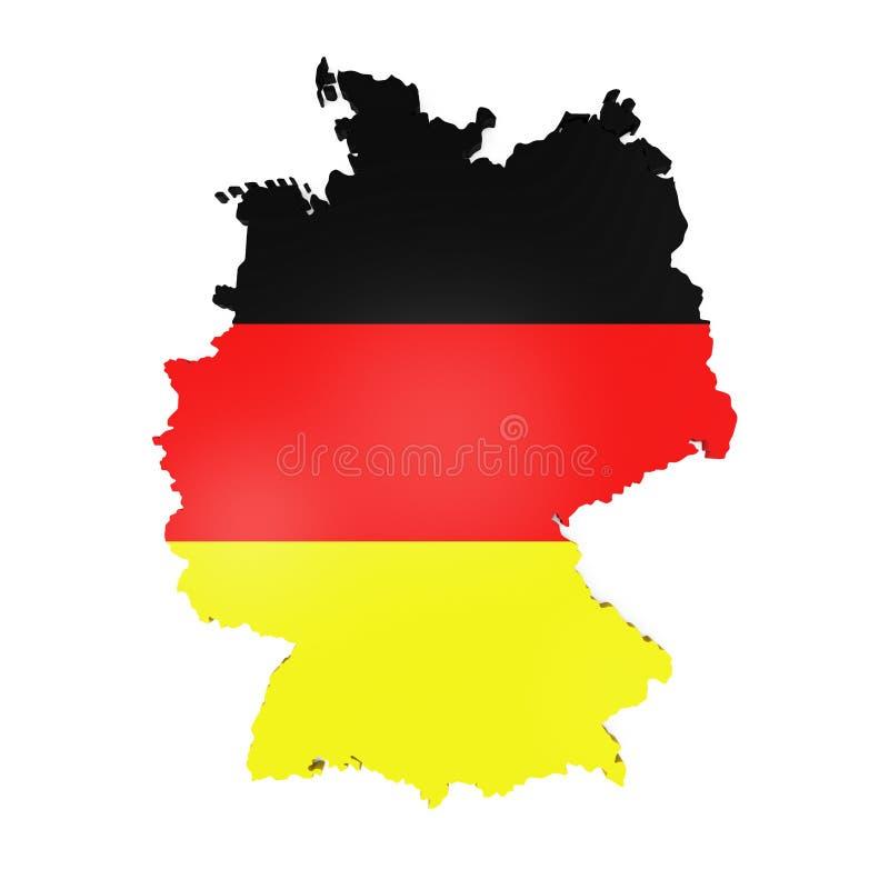 Mapa de Alemanha ilustração stock