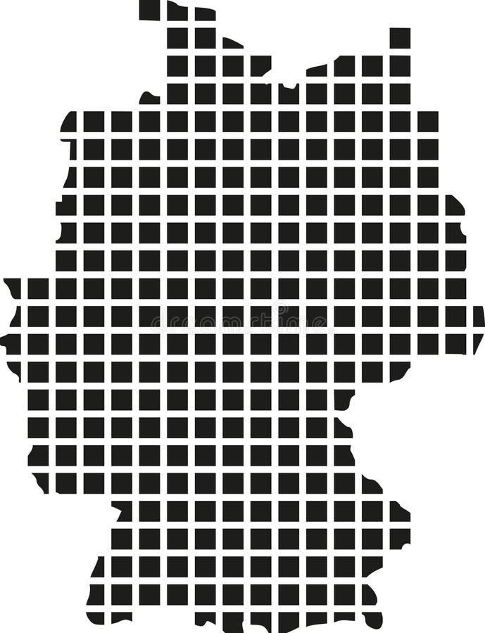 Mapa de Alemanha com pixel ilustração stock