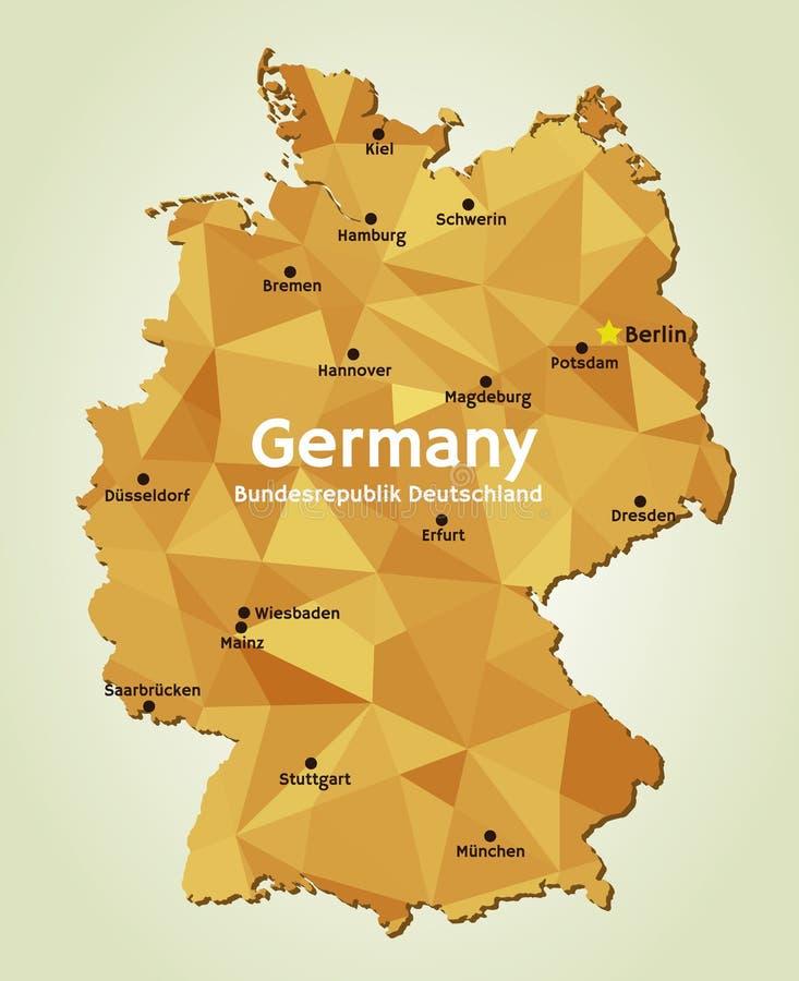 download mapa de alemania bundesrepublik deutschland stock de ilustracin ilustracin de pas correspondencia