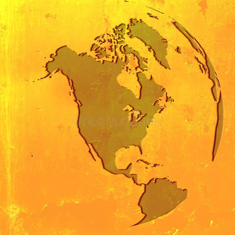 Mapa de América ilustração do vetor