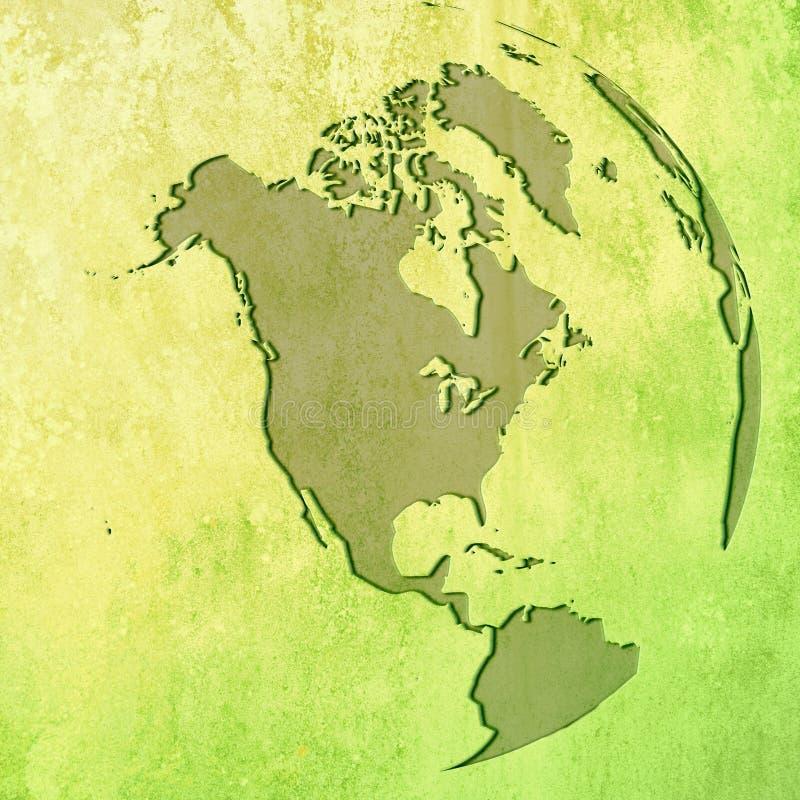 Mapa de América ilustração stock