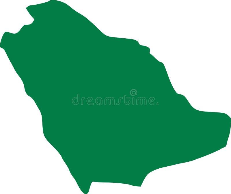 Mapa de Arábia Saudita ilustração do vetor
