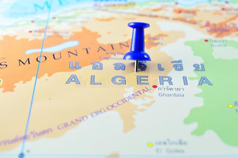 Mapa de Argélia fotos de stock