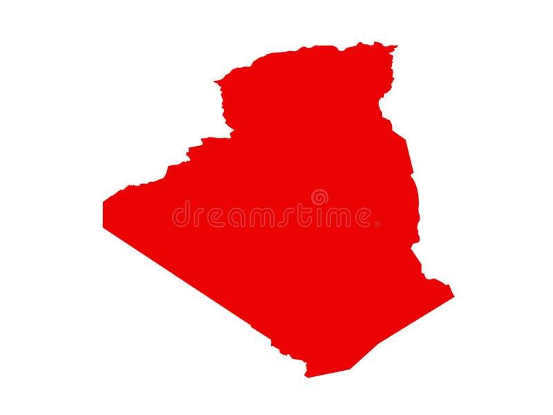 Mapa de Argélia - país no Maghreb ilustração royalty free