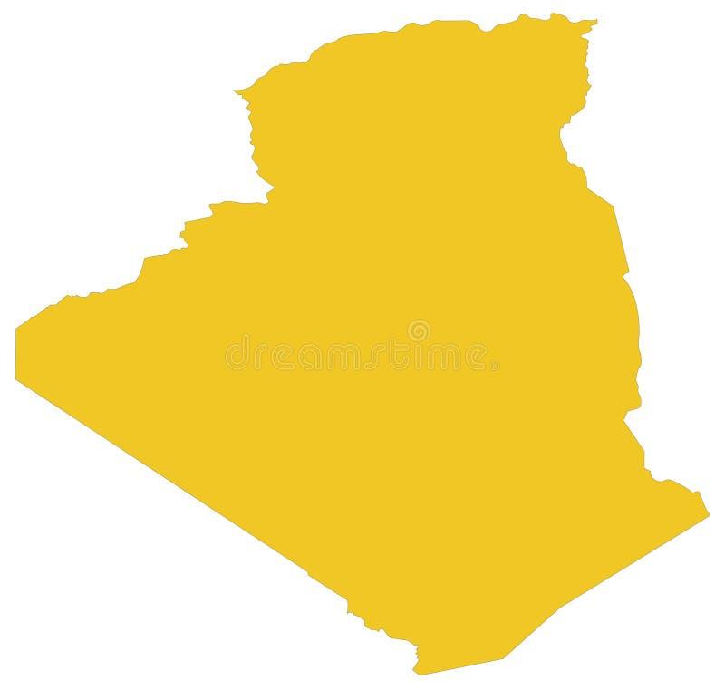 Mapa de Argélia - país no Maghreb ilustração do vetor