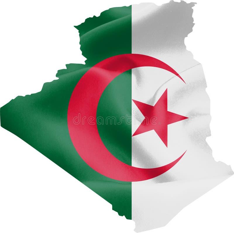Mapa de Argelia con la bandera libre illustration