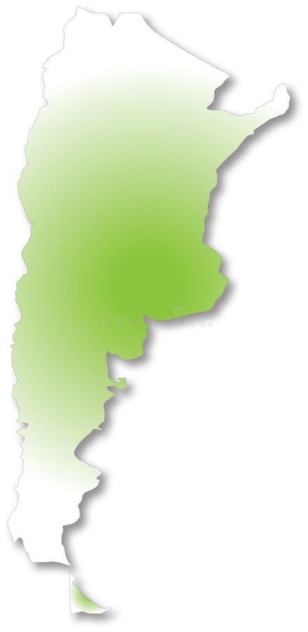 Mapa de Argentina ilustração do vetor