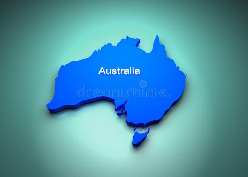 Mapa de Austrália ilustração royalty free
