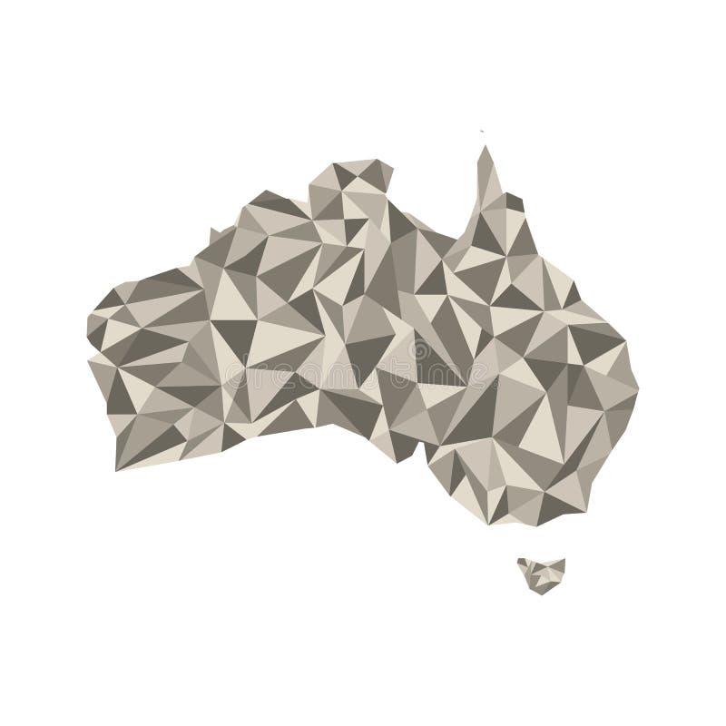 Mapa de Austrália Ilustração isolada do vetor Mapa do Austr ilustração stock
