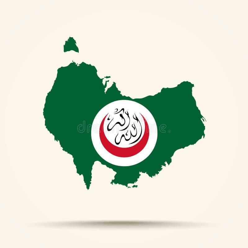 Mapa de Austrália na organização do colo islâmico da bandeira da cooperação ilustração royalty free
