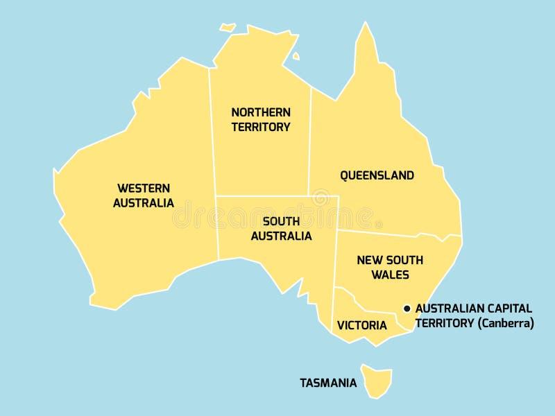 download mapa de australia con los estados y los territorios ilustracin del vector ilustracin de