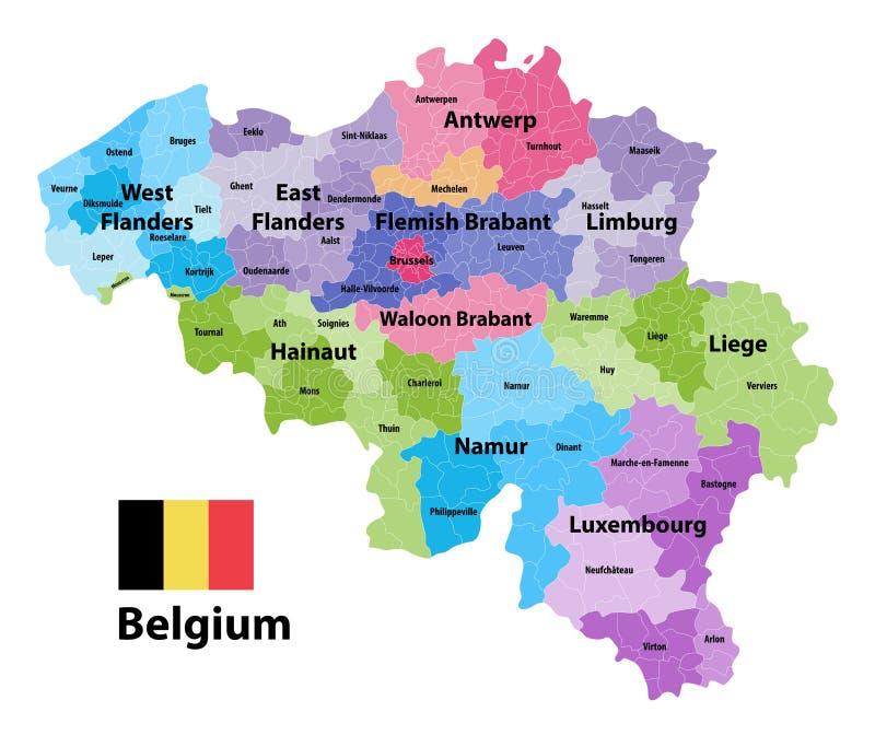 download mapa de blgica que muestra las provincias y los municipios administrativos de las subdivisiones