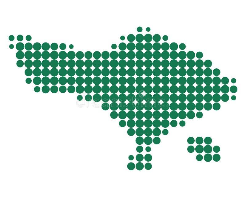 Mapa de Bali ilustração stock