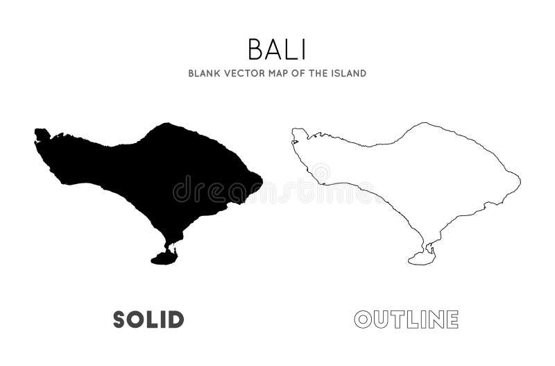 Mapa de Bali ilustração do vetor