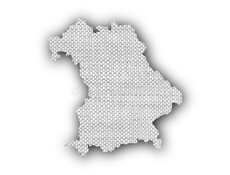 Mapa de Baviera no linho velho ilustração royalty free