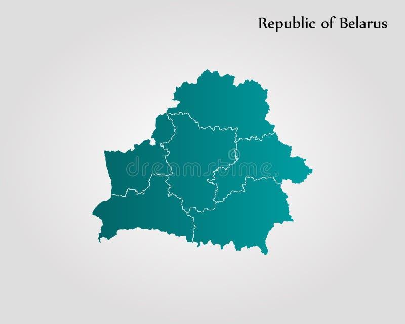 Mapa de Belarus ilustração royalty free