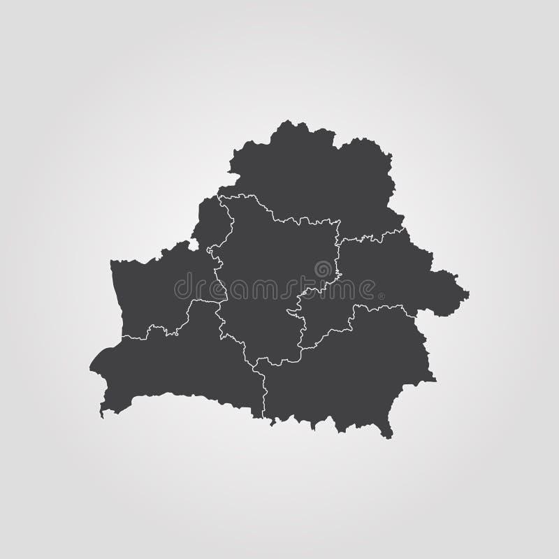 Mapa de Belarus ilustração do vetor