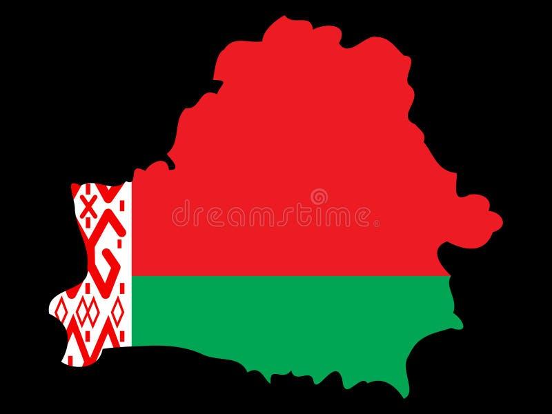 Mapa de Belarus ilustração stock
