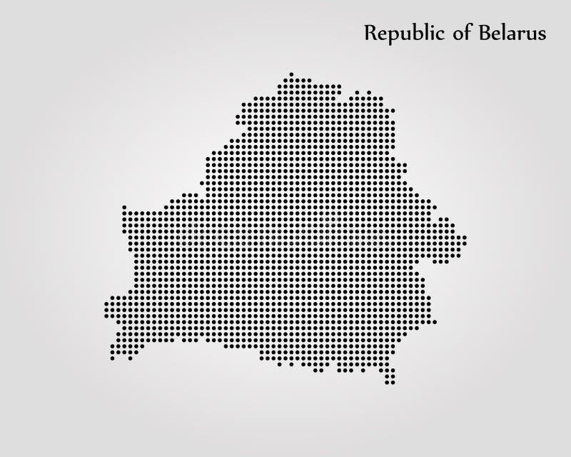 Mapa de Belarus Ilustra??o do vetor Mapa de mundo ilustração royalty free