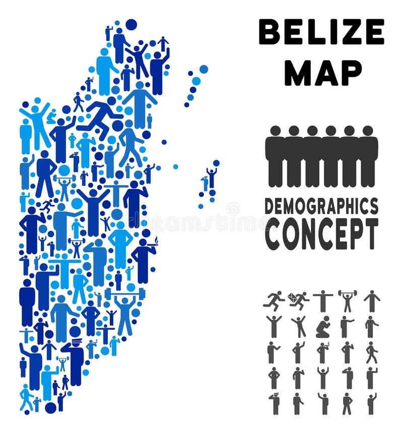 Mapa de Belice de la gente libre illustration