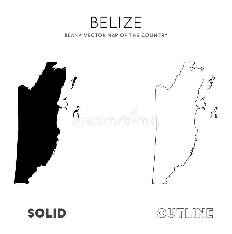 Mapa de Belize ilustração do vetor