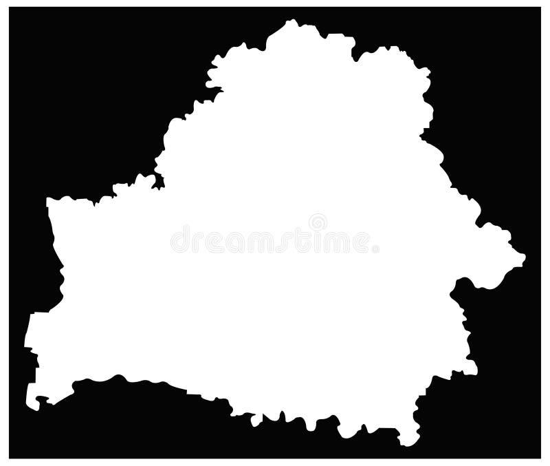 Mapa de Bielorrússia - Republic of Belarus ilustração stock