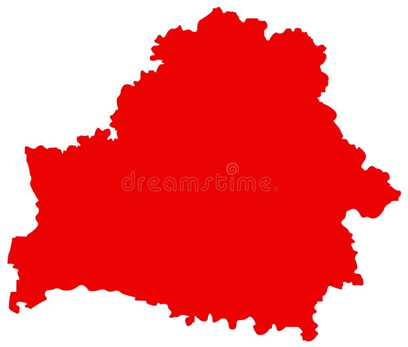 Mapa de Bielorrússia - Republic of Belarus ilustração royalty free