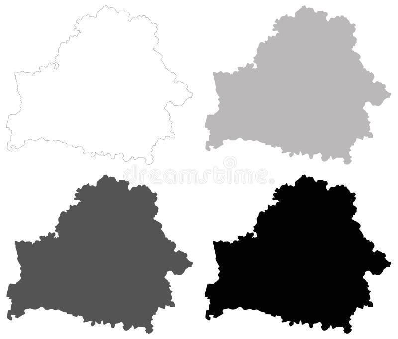 Mapa de Bielorrússia - Republic of Belarus ilustração do vetor