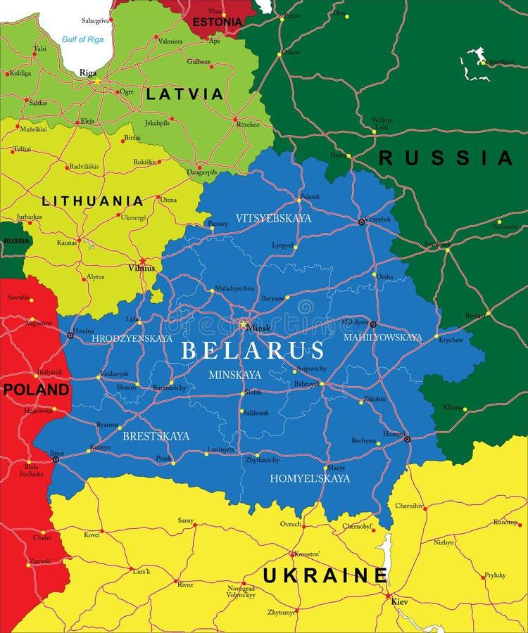 Mapa de Bielorrusia libre illustration