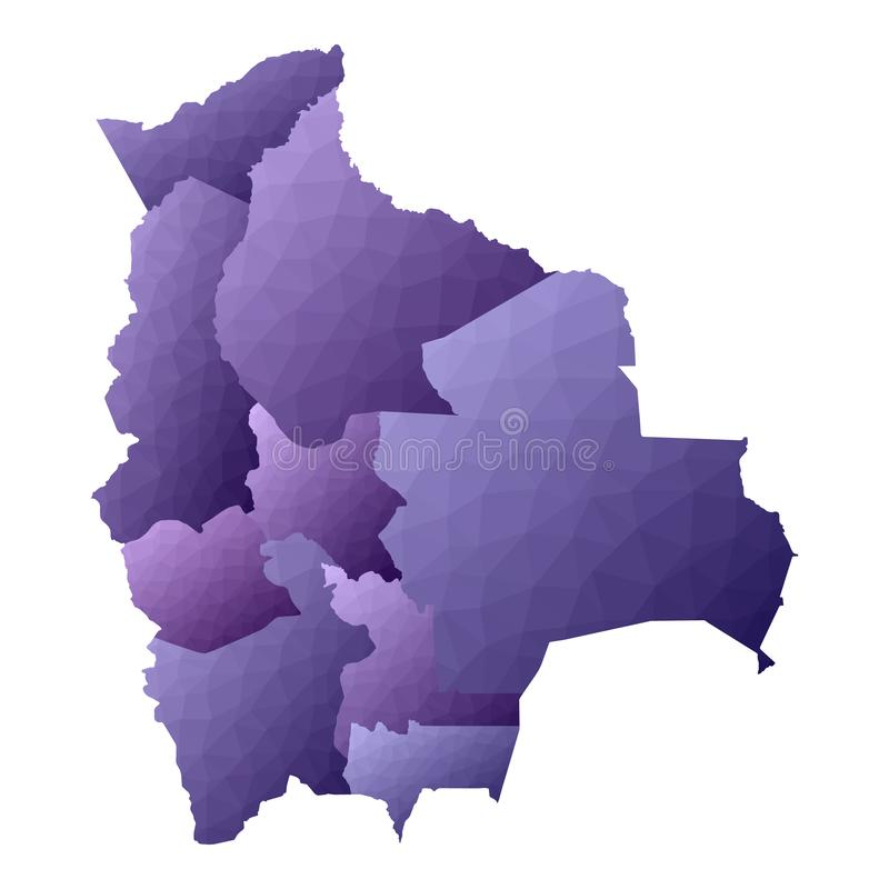 Mapa de Bol?via ilustração do vetor