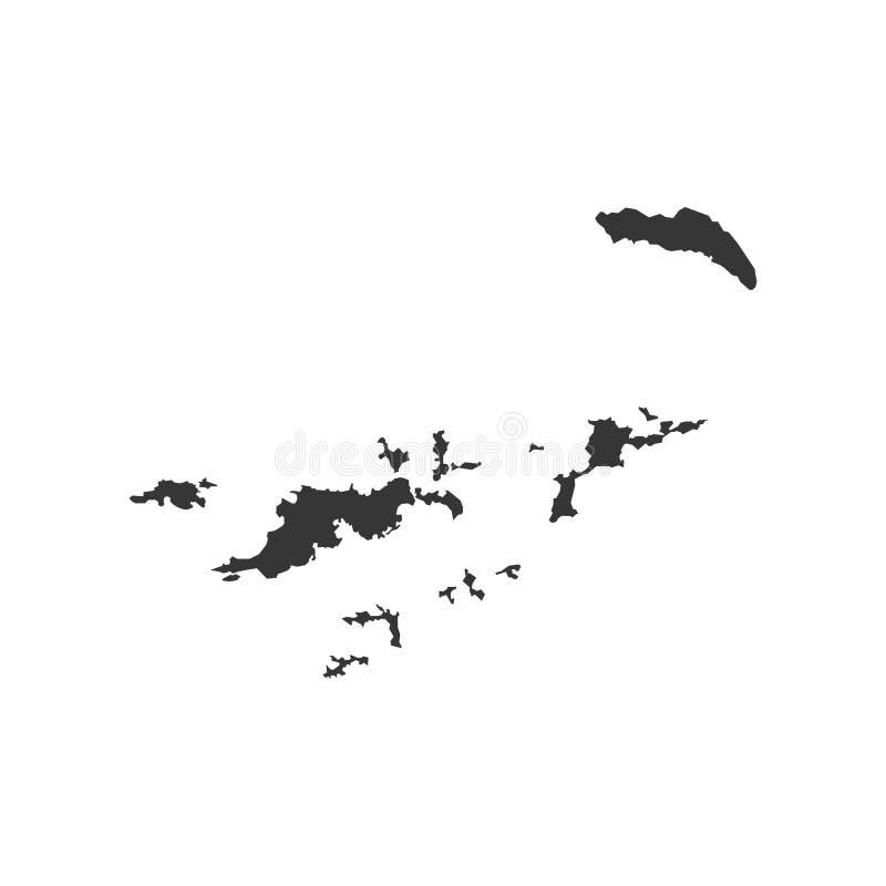 Mapa de British Virgin Islands ilustração royalty free