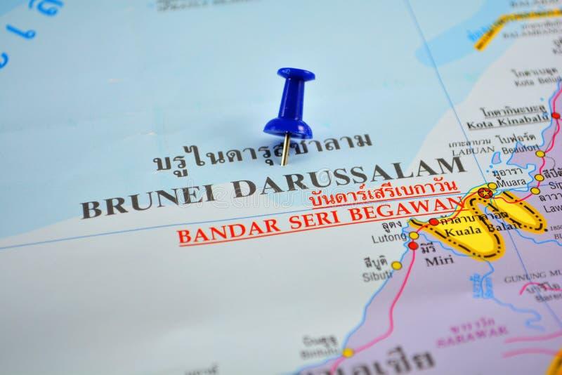 Mapa de Brunei Darussalam imagens de stock