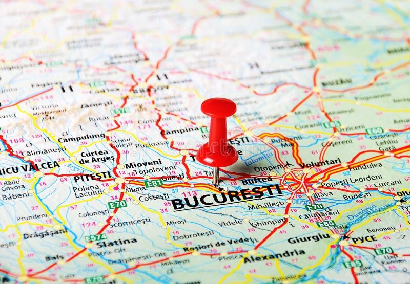Mapa de Bucuresti, Rumania foto de archivo libre de regalías