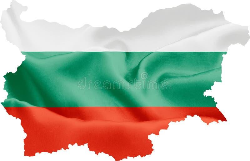 Mapa de Bulgária com bandeira fotografia de stock royalty free