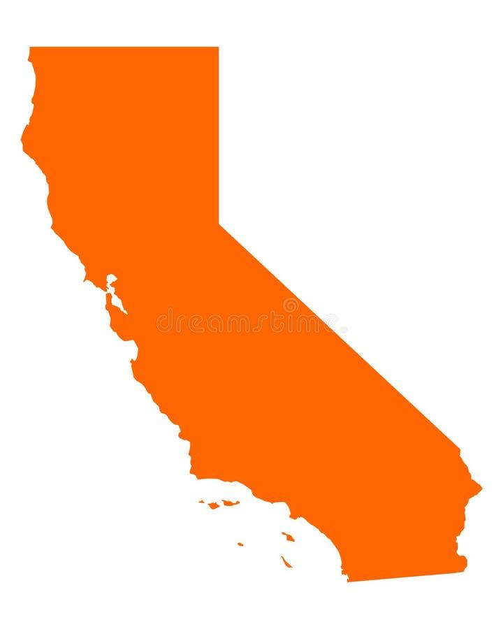 Mapa de Califórnia ilustração royalty free