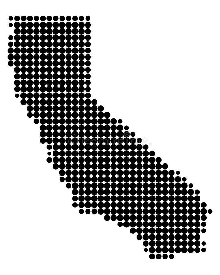 Mapa de Califórnia ilustração stock