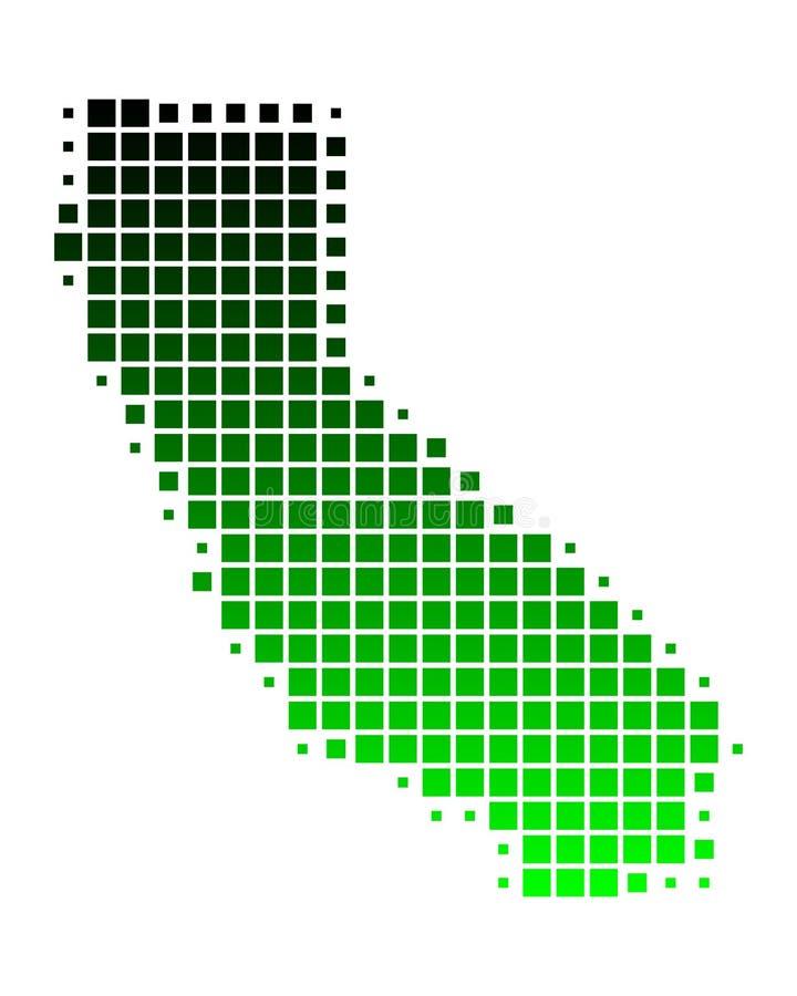 Mapa de Califórnia ilustração do vetor