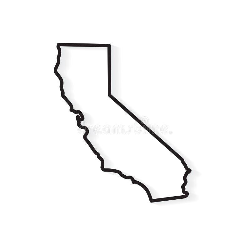 Mapa de Califórnia do esboço ilustração do vetor